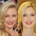 Cameron Diaz (left) and Glam Slam producer Ryan Patterson after getting Cameron's Oscar style look (right), March 2010