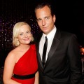 Amy Poehler and Will Arnett pose at the NBC Universal/Focus Features Golden Globes after party in Beverly Hills on January 17, 2010