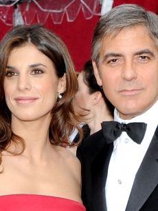 Elisabetta Canalis and George Clooney at the Oscars, March 7, 2010