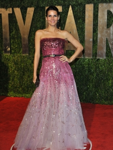 Angie Harmon looks beatific at the 2010 Vanity Fair Oscar Party.