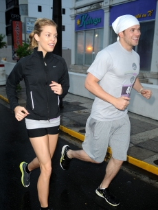 Annalynne McCord and Kellan Lutz hit the ground running at the First Annual Roselyn Sanchez Triathlon for Life Race in San Juan, Puerto Rico on March 7, 2010
