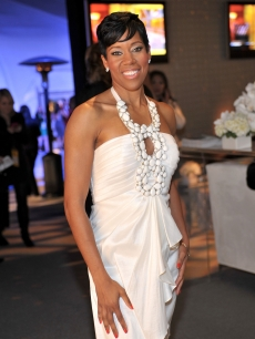 Regina King is stunning in white on the blue carpet at the 25th Film Independent Spirit Awards in Los Angeles, Calif. on March 5, 2010