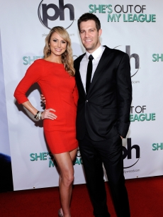 Geoff Stults with Stacy Keibler at the Las Vegas premiere of &#8216;She&#8217;s Out of My League&#8217; at the Planet Hollywood Resort &amp; Casino in Las Vegas on March 10, 2010