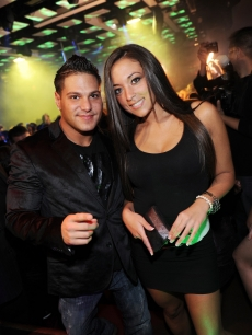 Ronnie Magro and Sammi 'Sweetheart' Giancola host an evening at JET Nightclub in Las Vegas on March 6, 2010