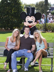 Vienna Girardi, fiance Jake Pavelka and his 'DWTS' partner Chelsie Hightower enjoy a day at the Magic Kingdom in Florida on March 13, 2010