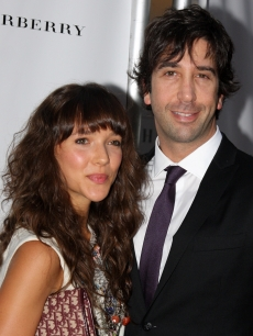 David Schwimmer and fiancee-to-be Zoe Buckman together in NYC on September 29, 2009