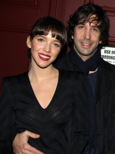 David Schwimmer and fiancee Zoe Buckman attend the Elton John play 'Next Fall' on Broadway at The Helen Hayes Theater on March 14, 2010 in New York City