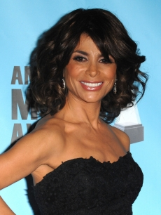 Paula Abdul poses in the press room at the 2009 American Music Awards at Nokia Theatre L.A. Live on November 22, 2009 in Los Angeles