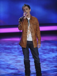 Aaron Kelly performs during Rolling Stones week on 'American Idol,' March 16, 2010