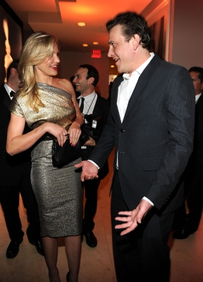 Cameron Diaz and Jason Segel attend the 2010 Vanity Fair Oscar Party at the Sunset Tower Hotel on March 7, 2010 in West Hollywood, Calif.