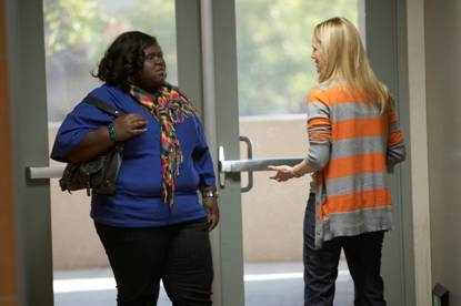 Gabourey Sidibe and Laura Linney on Showtime's 'The Big C'