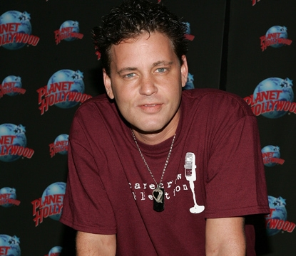 Corey Haim appears at Planet Hollywood Times Square for his handprint ceremony on August 15, 2007 in New York City