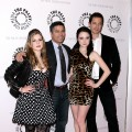 Magda Apanowicz, Esai Morales, Alessandra Torresani and Sasha Roiz attend a screening of 'Caprica' at The Paley Center for Media, NYC, March 17, 2010