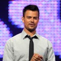 Josh Duhamel speaks onstage during Nickelodeon's upfronts, Los Angeles, March 24, 2010