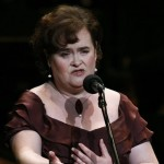 Susan Boyle performs as she makes a guest appearance in a concert of the Yomiuri Nippon Symphony Orchestra in Tokyo, Japan, April 1, 2010
