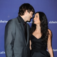 Ashton Kutcher and Demi Moore arrive at the 18th Annual ''A Night At Sardi's'' Fundraiser And Awards Dinnerheld in Beverly Hills, California on March 18, 2010