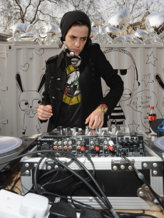 Samantha Ronson performs a DJ set during the Harvey Nichols Fourth Floor Press Review at Hanover Square in London, England on March 18, 2010