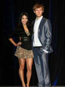 Vanessa Hudgens and Brit Alex Pettyfer arrive at the CBS Films luncheon during ShoWest 2010 held at Paris Las Vegas, March 18, 2010