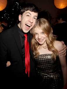 Christopher Mintz-Plasse and Chloe Grace Moretz attend the &#8216;Kick-Ass&#8217; European Film Premiere after-party in London, England on March 22, 2010