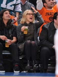 Chloe Sevigny attends a game between the Denver Nuggets and the New York Knicks at Madison Square Garden, NYC, March 23, 2010