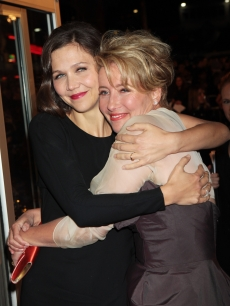 Maggie Gyllenhaal and Emma Thompson attend the world premiere of 'Nanny McPhee and The Big Bang,' London, Marhc 24, 2010