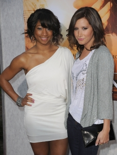 Monique Coleman and Ashley Tisdale arrive at the 'The Last Song' premiere, ArcLight Hollywood on March 25, 2010
