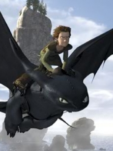 Hiccup and Toothless fly into action in 'How To Train Your Dragon' (2010)