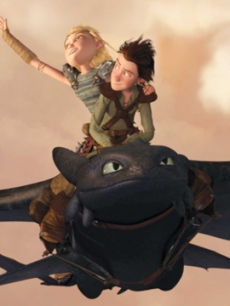 A high-flying scene from 'How To Train Your Dragon' (2010)