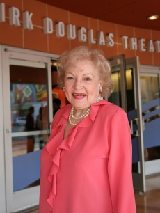 Betty White steps out for the opening night performance of 'The Wake' at the Center Theatre Group's Kirk Douglas Theatre in Culver City, California on March 28, 2010
