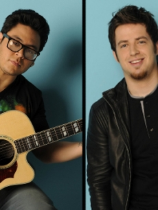 Andrew Garcia and Lee Dewyze from &#8216;Amercian Idol&#8217;