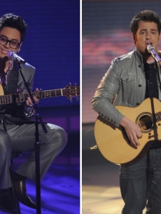 Andrew Garcia and Lee DeWyze on &#8216;American Idol&#8217; on March 30, 2010
