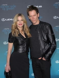 Kyra Sedgwick and Kevin Bacon attend The Darker Side of Green climate change debate at Skylight West in New York City on March 30, 2010