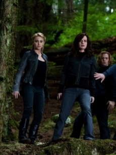 Ashley Greene, Nikki Reed, Elizabeth Reaser, Jackson Rathbone and Peter Facinelli in a scene from 'The Twilight Saga: Eclipse'
