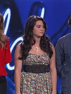 Didi Benami, Katie Stevens and Tim Urban await their fate on 'American Idol,' March 31, 2010