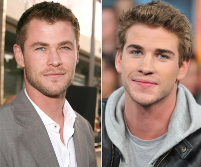 Australian brothers Chris and Liam Hemsworth