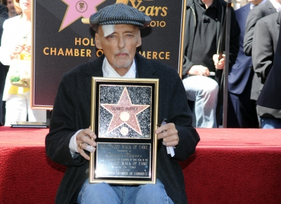 Dennis Hopper was honored with a Star on the Hollywood Walk of Fame on March 26, 2010