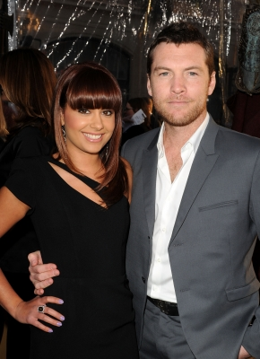 Sam Worthington and Natalie Mark arrive to the premiere of 'Clash Of The Titans' in Los Angeles, California on March 31, 2010
