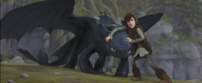 A scene from DreamWorks' 'How To Train Your Dragon'