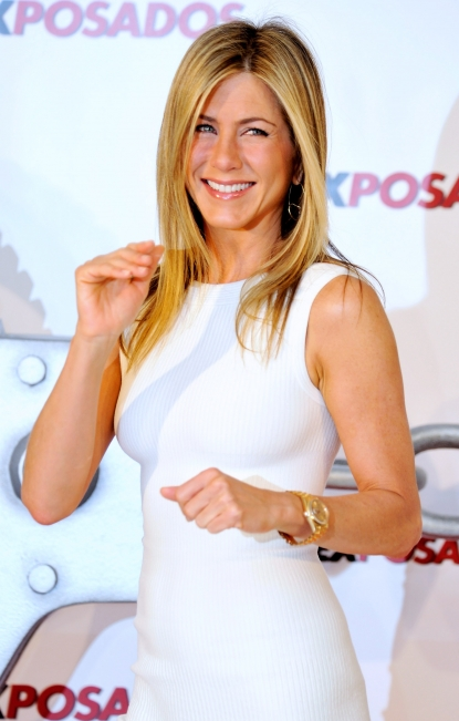 Jennifer Aniston attends 'The Bounty Hunter' photocall at the Villamagna Hotel in Madrid, Spain on March 30, 2010