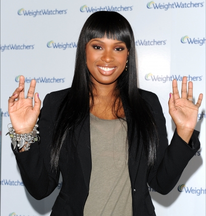 Jennifer Hudson reveals her new weight loss with the debut of her national advertising campaign with Weight Watchers at the Glass Houses, NYC, April 1, 2010