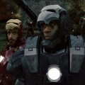 Robert Downey Jr. and Don Cheadle get ready for action in &#8216;Iron Man 2&#8217;
