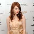 Emma Stone gets fierce at the Cinema Society's screening of 'Paper Man' at the Crosby Street Hotel in New York City on April 5, 2010