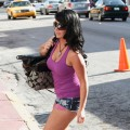 Angelina 'Jolie' Pivarnick is seen in South Beach as filming begins for the new season of 'Jersey Shore' in Miami Beach, Fla. on April 5, 2010