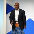 Al Roker walks the catwalk at the 8th annual 'Dressed To Kilt' Charity Fashion Show presented by Glenfiddich at M2 Ultra Lounge in New York City on April 5, 2010