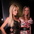 Paris Hilton and Nicky Hilton attend Nylon Magazine's 11th Anniversary Celebration at Trousdale in West Hollywood, California on April 7, 2010