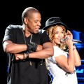 Jay-Z and Beyonce perform 'Young Forever' during day one of the Coachella Valley Music & Arts Festival 2010 held at the Empire Polo Club, Indio, Calif., April 16, 2010