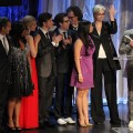The cast of &#8216;Glee&#8217; and show creator Ryan Murphy onstage at the 21st Annual GLAAD Media Awards held at Hyatt Regency Century Plaza in Century City, California on April 17, 2010 
