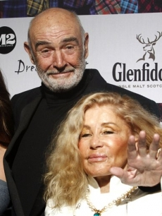 Sean Connery and his wife Micheline Connery attend the 8th annual &#8216;Dressed To Kilt&#8217; Charity Fashion Show presented by Glenfiddich at M2 Ultra Lounge in New York City on April 5, 2010 