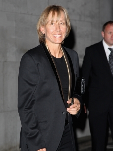 Martina Navratilova arrives at the 2008 Wimbledon Champions Dinner on July 6, 2008 in London, England