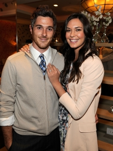 Dave Annable and Odette Yustman attend Avon and Elle Magazine's celebration of the mag's May issue at the Crosby Street Hotel, NYC, April 9, 2010